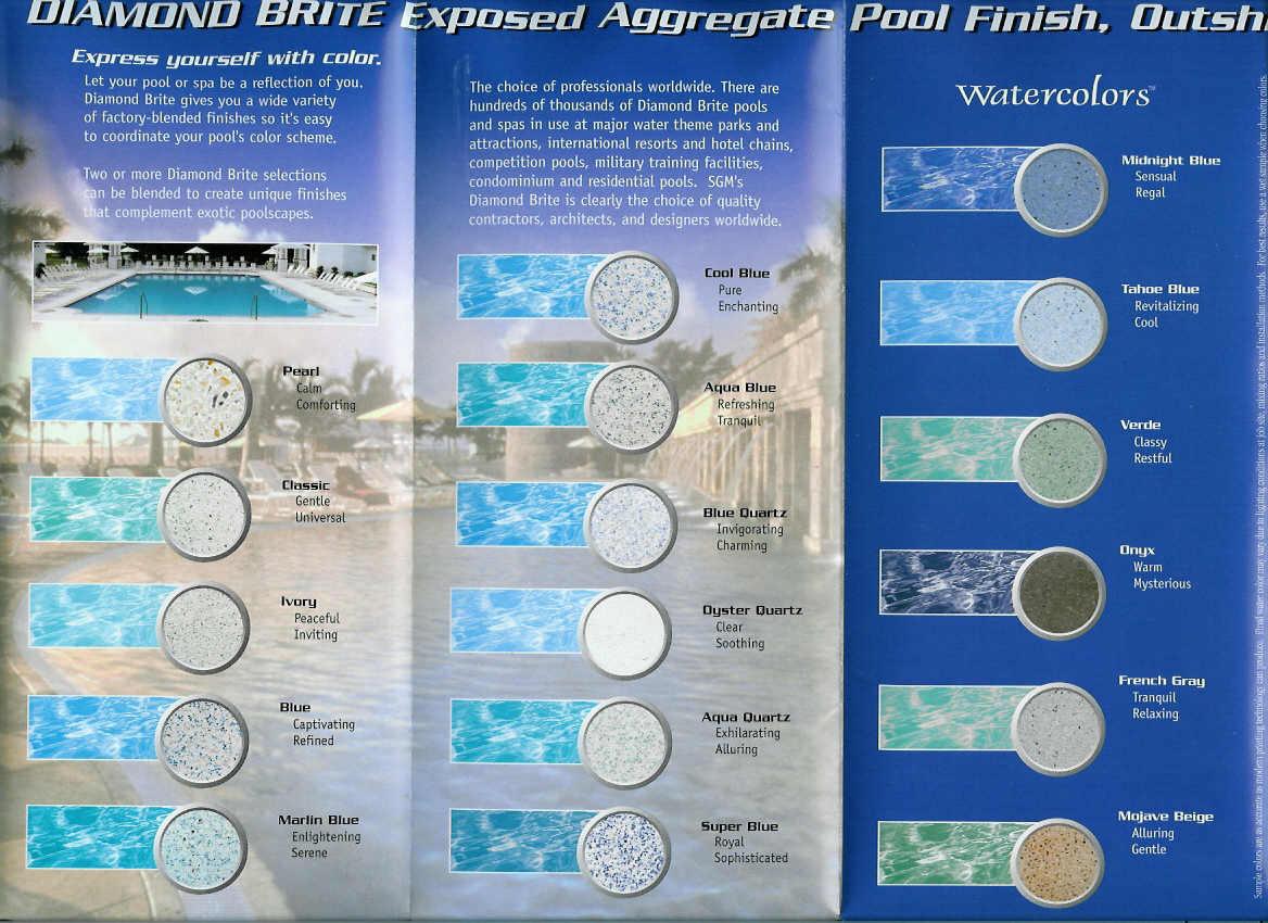 diamond brite exposed aggregate pool finishes - Diamond Brite Pool Colors